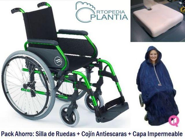 En ortopedia plantia de donostia oferta del pack silla de ruedas coj n y capa gipuzkoagaur - Cojin silla de ruedas ...