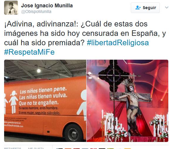 El obispo munilla se pronuncia en twitter sobre el bus de for Muebles basoko
