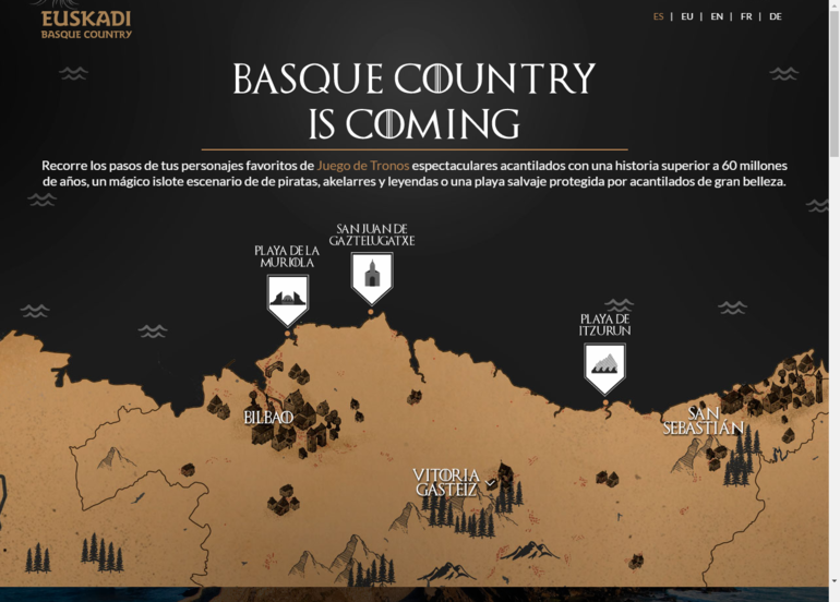 Juego de tronos invita a un viaje por euskadi gipuzkoagaur for Muebles basoko