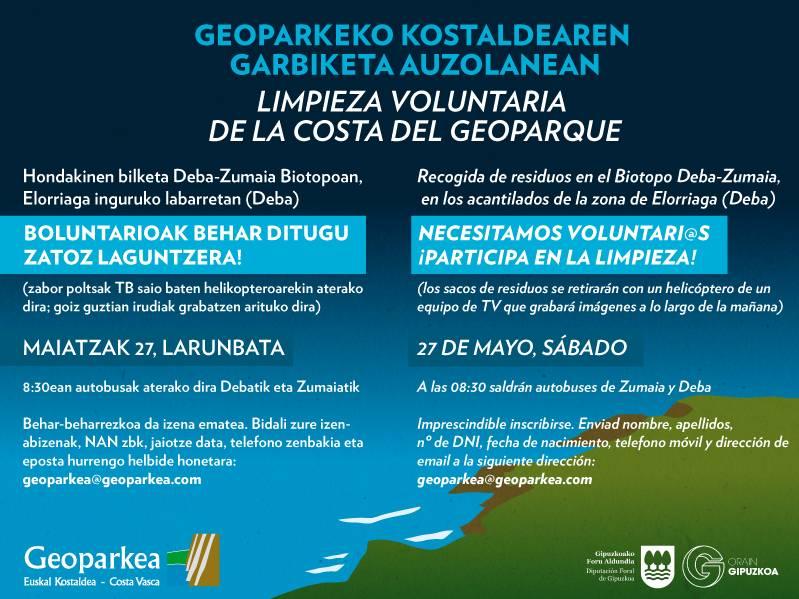 Geoparkea busca voluntarios para limpiar la costa for Muebles basoko