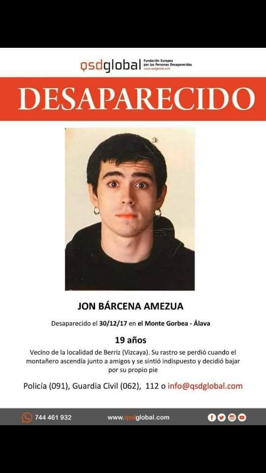Buscan a un joven de 19 a os desaparecido en el gorbea for Muebles basoko